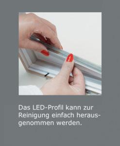ILLUFRAME | Mögliche Entnahme des LED-Pofils