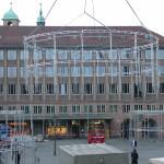 Aluminiumkonstruktion aus HB-Doppelrohr: 1x 13,5m und 2x 11,8m Durchmesser