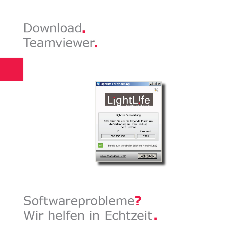 LightLife Download Fernwartung