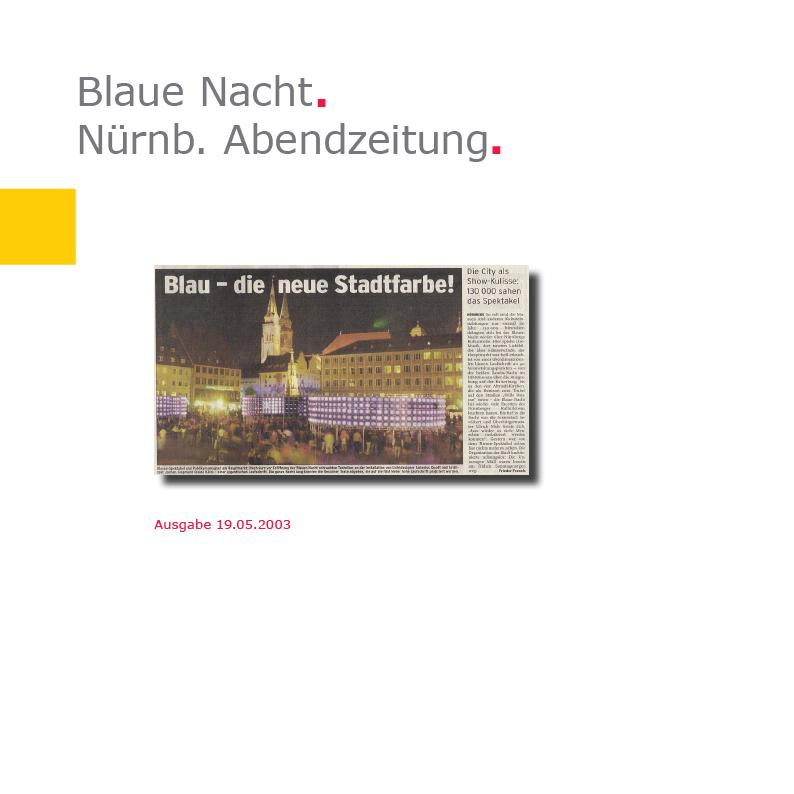 Nürnberger Abendzeitung | Linie 03 – Blaue Nacht