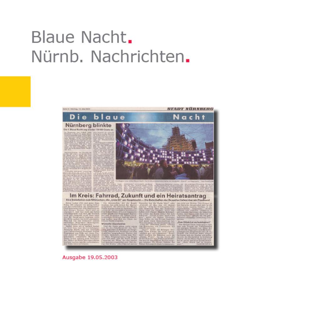 Nürnberger Nachrichten   Linie 03 – Blaue Nacht