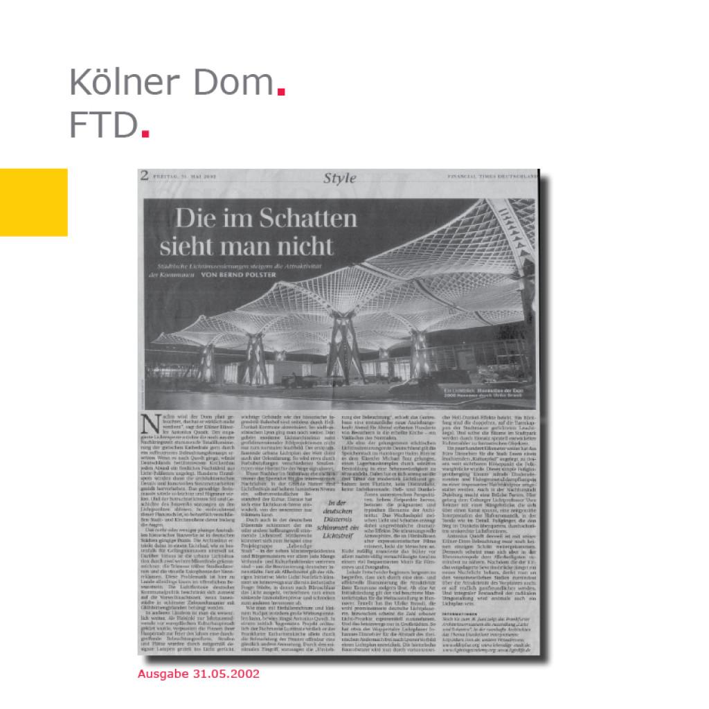 Financial Times Deutschland   Kölner Dom