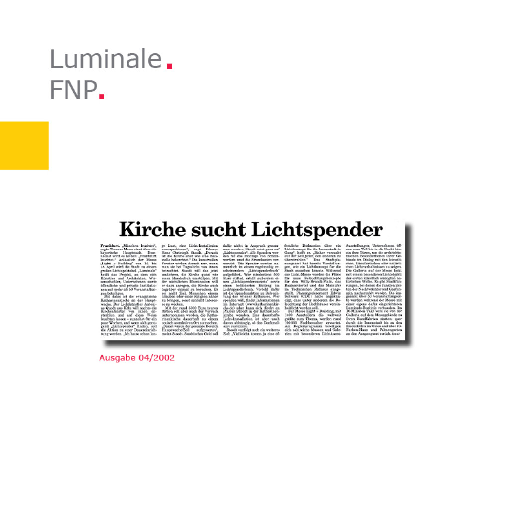 Frankfurter Neue Presse   Luminale