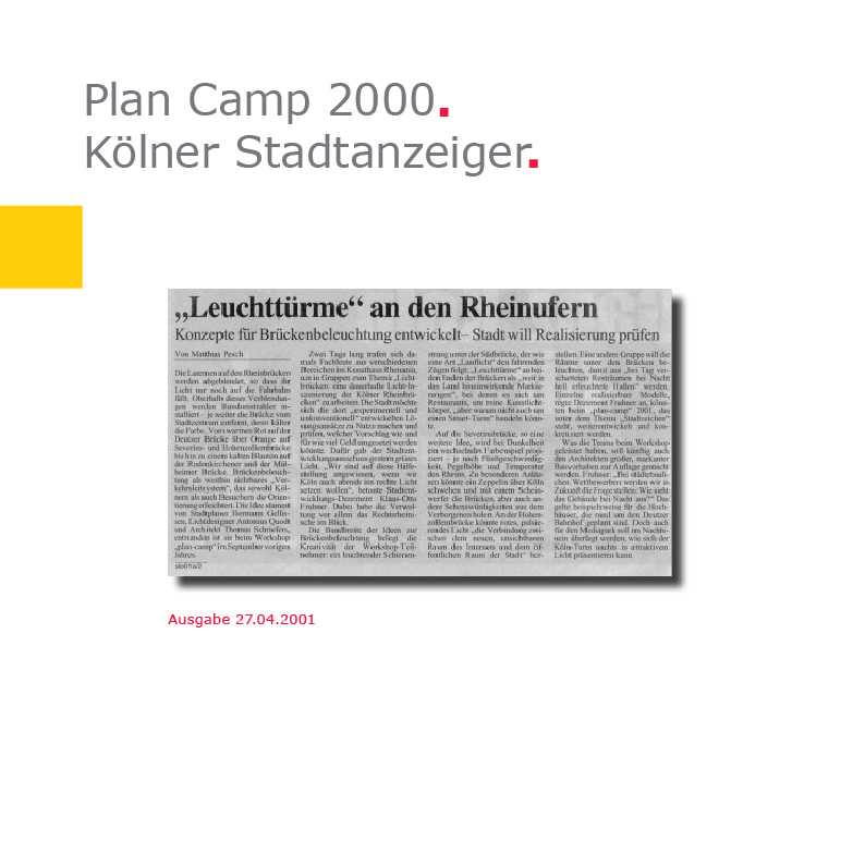 KStA | Plan Camp 2000