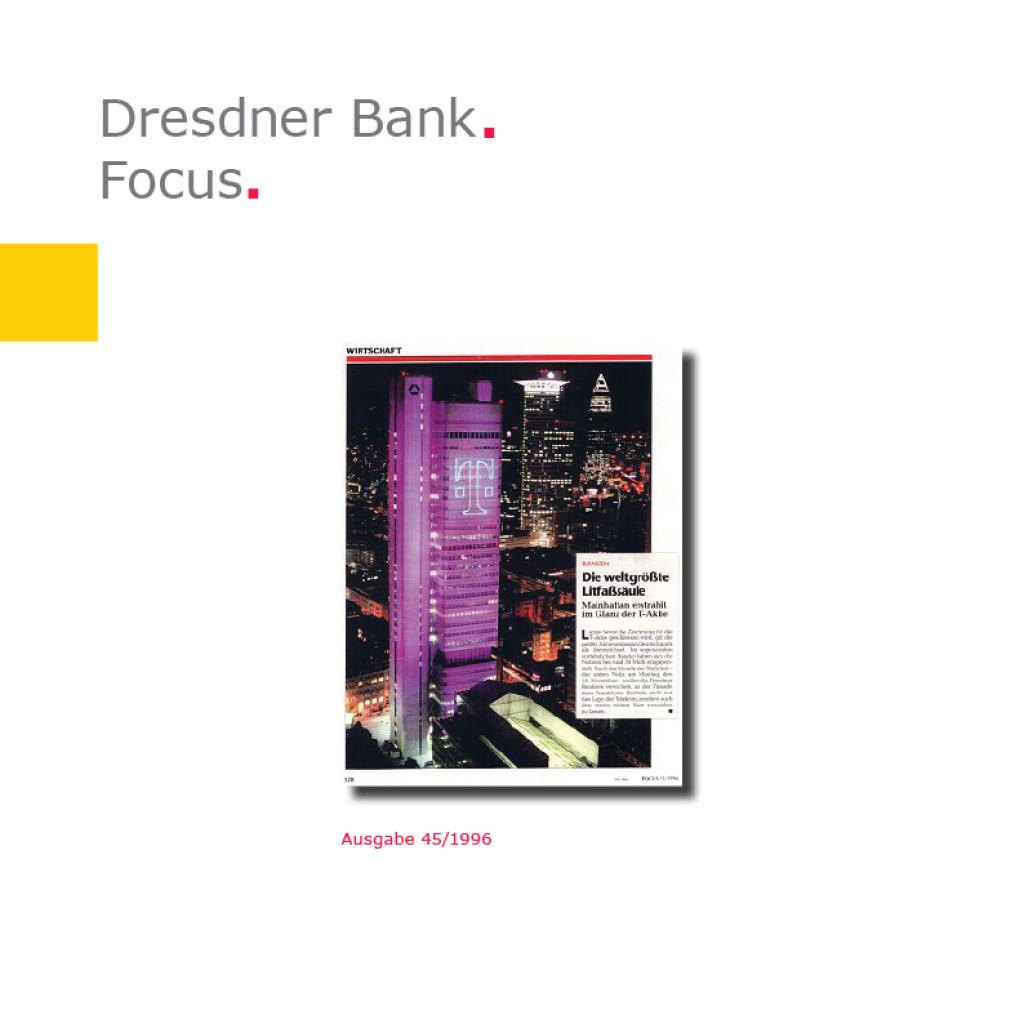 Focus   Dresdner Bank, T-Aktie