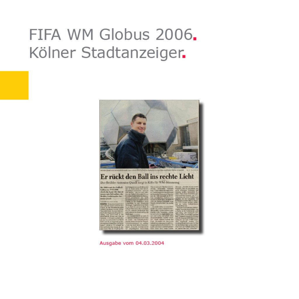 KStA   Fußball-Globus FIFA WM 2006