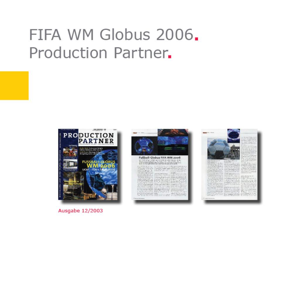 Production Partner   Fußball-Globus FIFA WM 2006