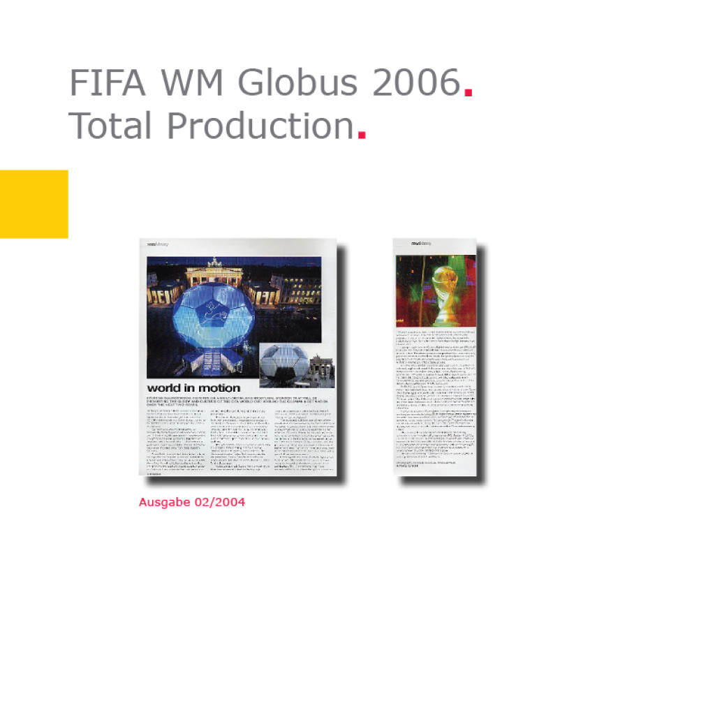 Total Production | Fußball-Globus FIFA WM 2006