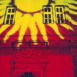 Die Projektion der Sonne auf dem Schloss Bevern.