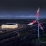 Bei gutem Wetter sind die 9.000 leuchtenden Osram LEDs noch aus 30km Entfernung sichtbar