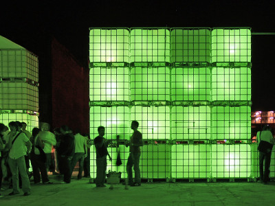 Temporary light architecture as an international event-highlight