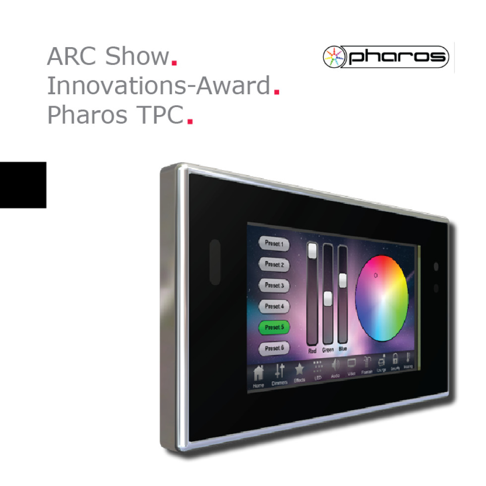 Arc Show Innovations Award For Pharos Touch Panel Controller
