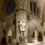 Die Statue des Heiligen Christophorus.