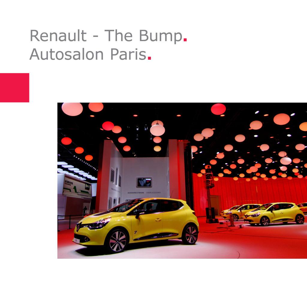"""Renault  """"The Bump""""   Autosalon Paris"""
