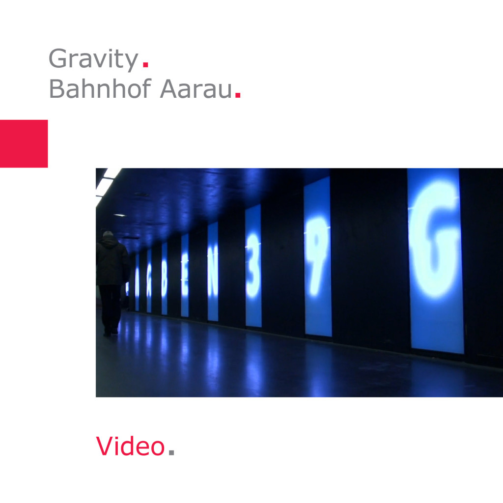 Atelier Derrer   Gravity – Bahnhof Aarau