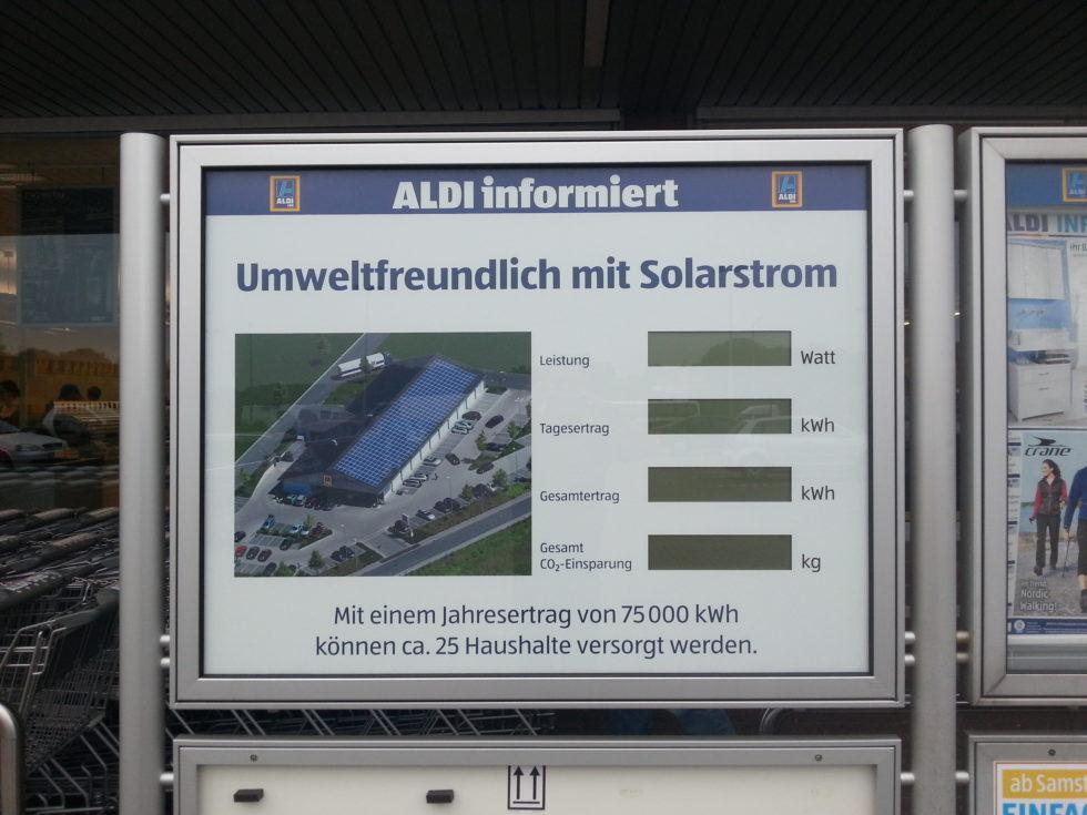 Es bewegt sich etwas – Solarstrom jetzt auch bei ALDI SÜD