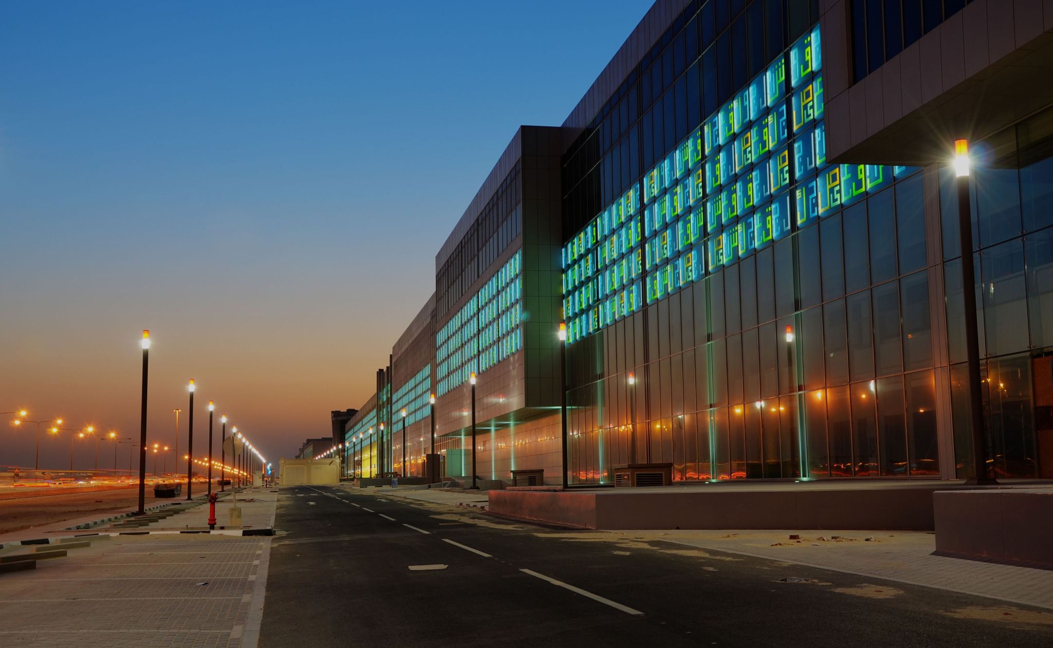 BARWA Commercial Avenue, Doha, Katar   Lettering Works Type 3