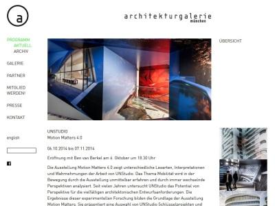 UNStudio | Ben van Berkel in der Münchner Architekturgalerie