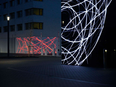 "Annette Sauermann's ""Networks of Knowledge"" at the Fraunhofer ILT + IPT in Aachen receive the German Lighting Design Award"