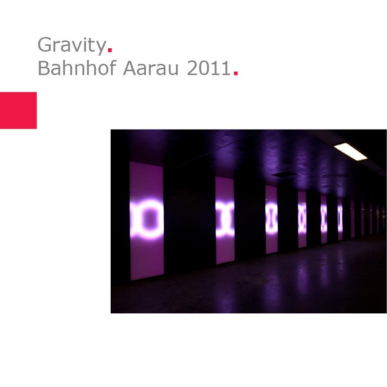 Atelier Derrer | Gravity – Bahnhof Aarau