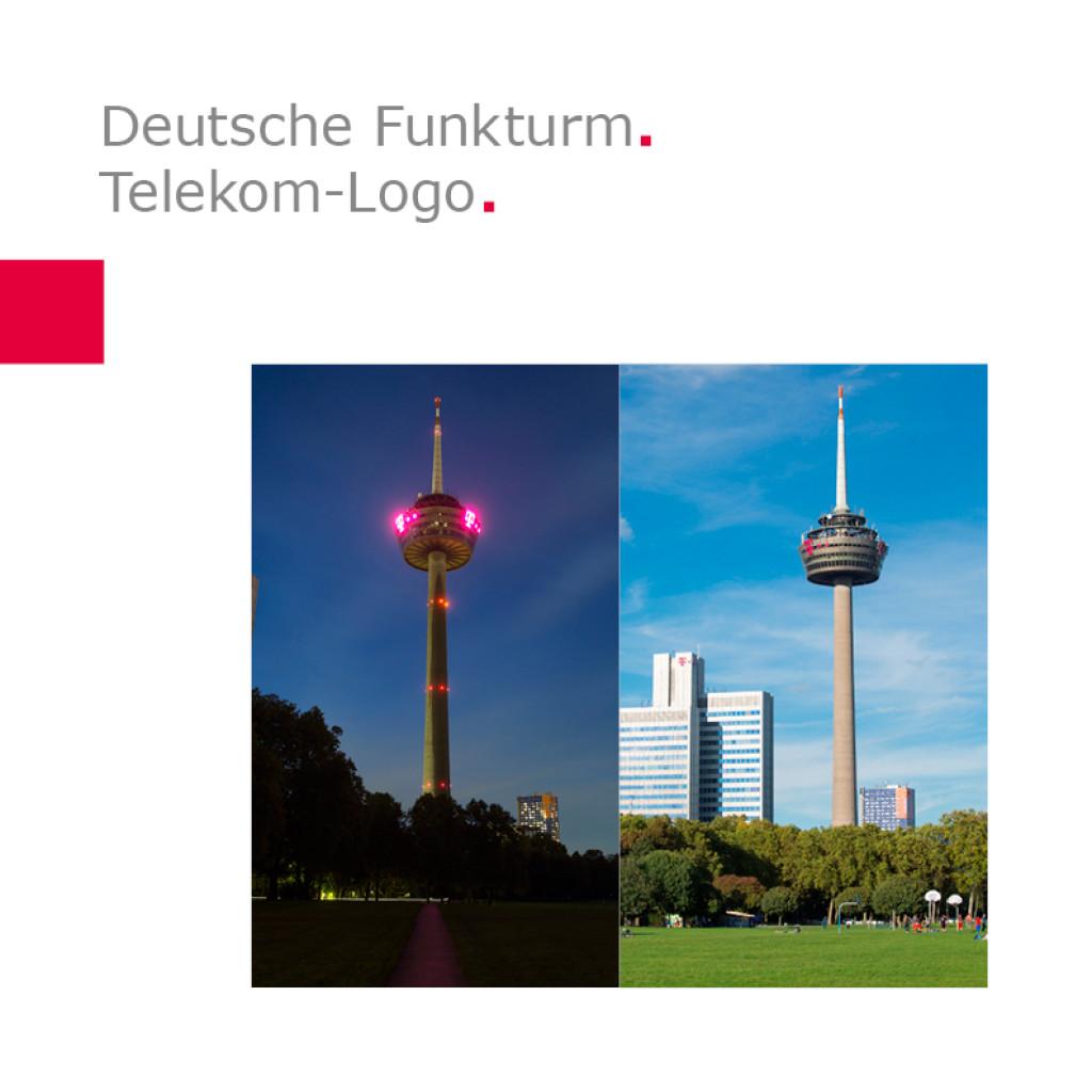 Deutsche Funkturm   Telekom-Logo am Colonius