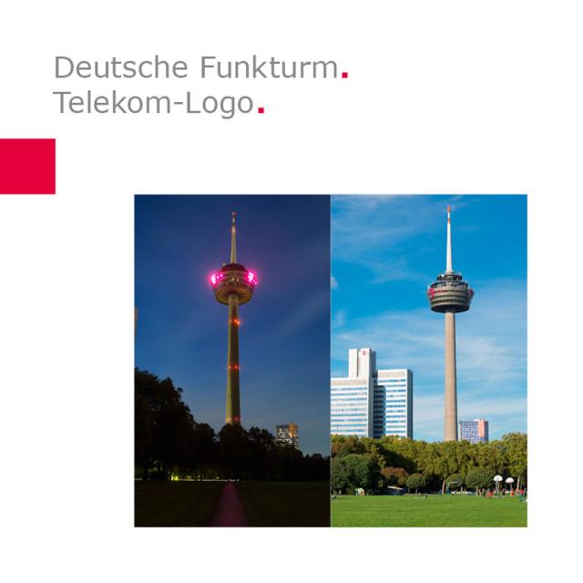 Deutsche Funkturm | Telekom-Logo am Colonius