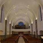 Kapelle: Sicht auf Orgel
