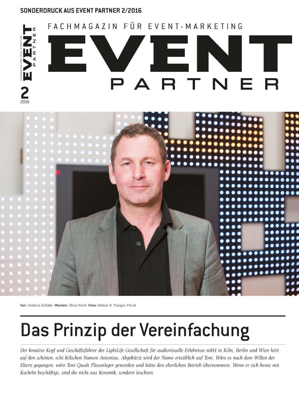 Event Partner | Das Prinzip der Vereinfachung