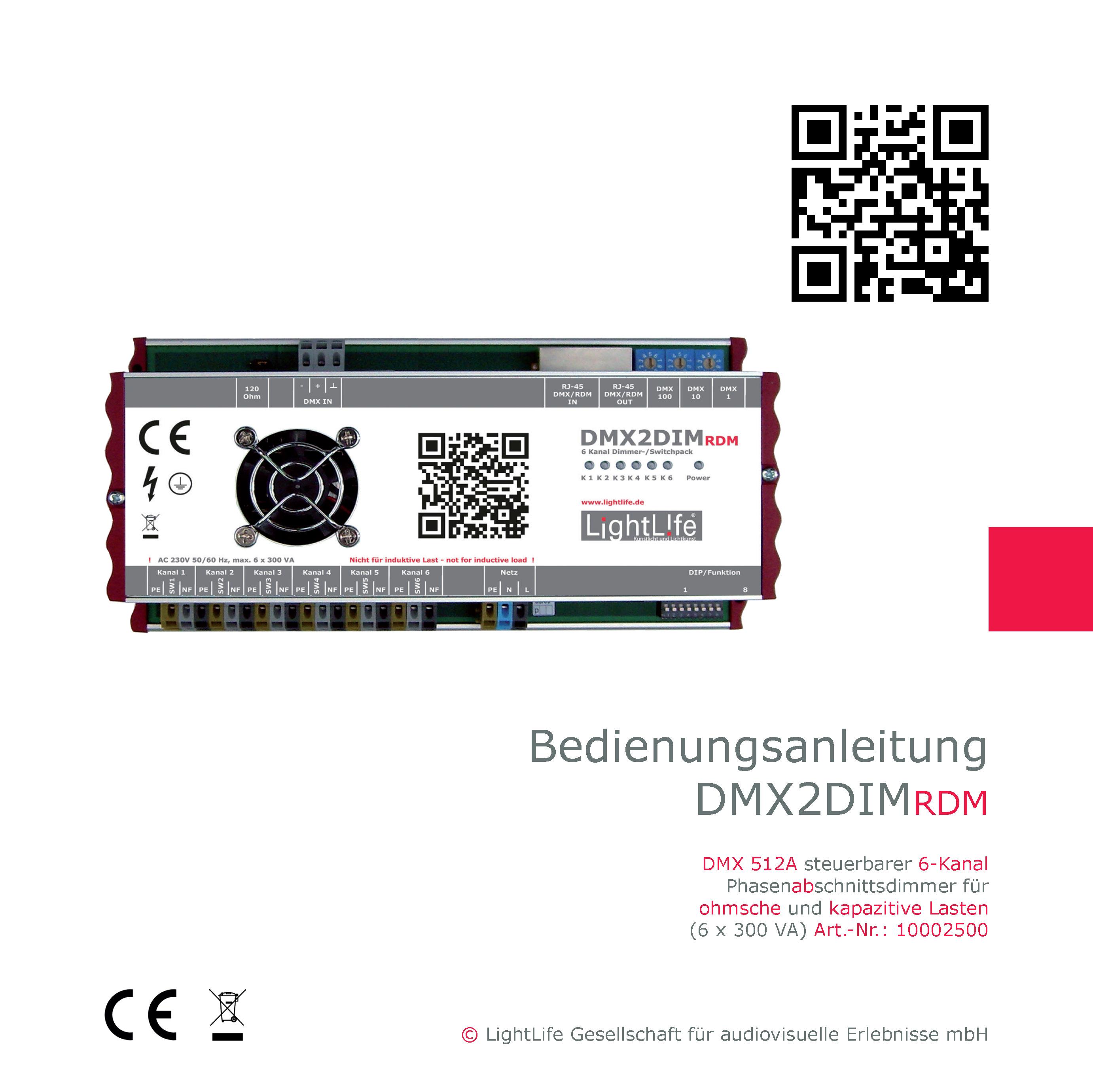 Bedienungsanleitung DMX2DIM-RDM