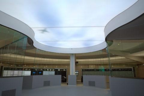 Angenehme Atmosphäre für Mitarbeiter der PCK Raffinerie, durch Simulation von unterschiedlichsten Wettereinflüssen über die LED-Deckenbeleuchtung.