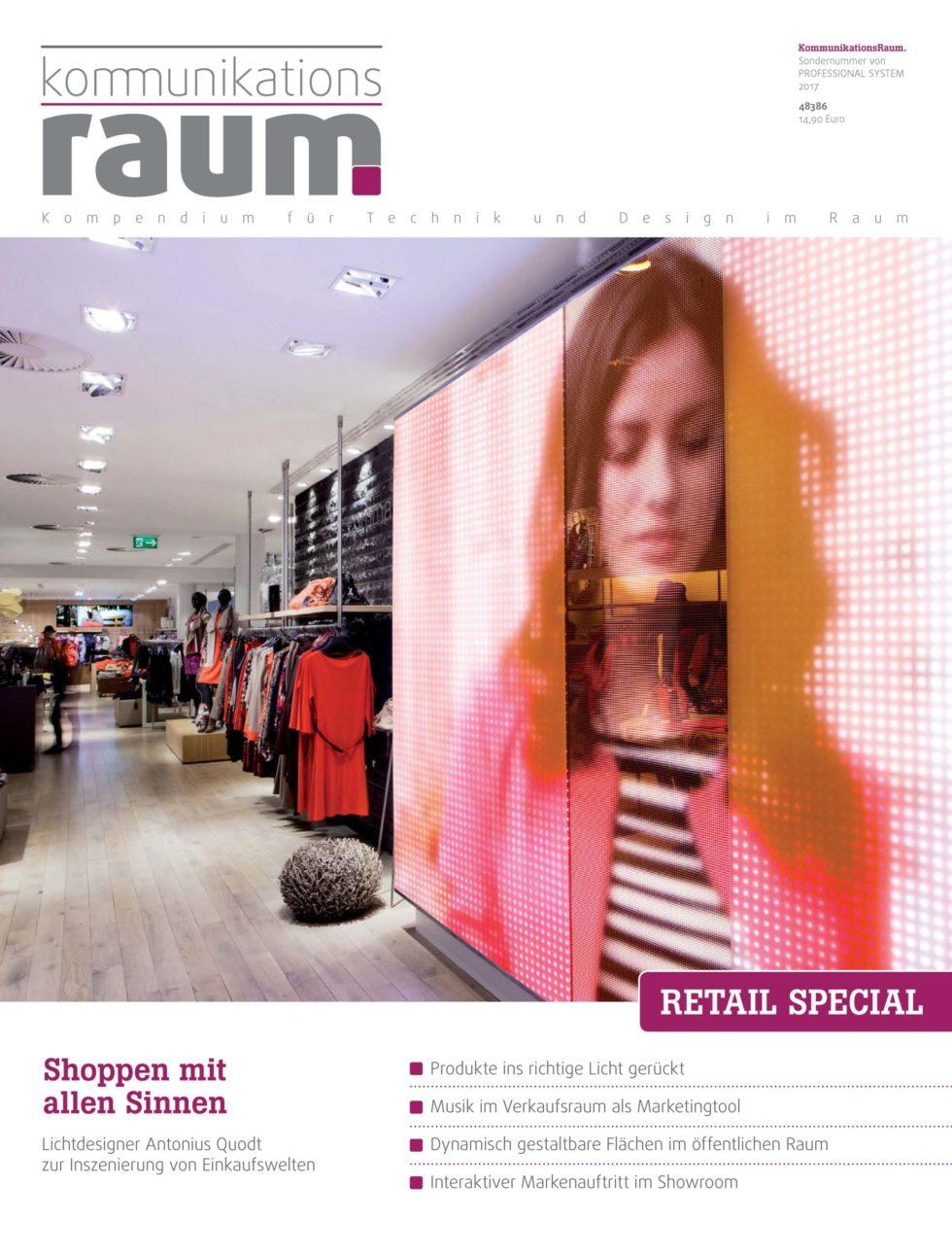 Kommunikationsraum – Mediale Reize in der Shopbeleuchtung