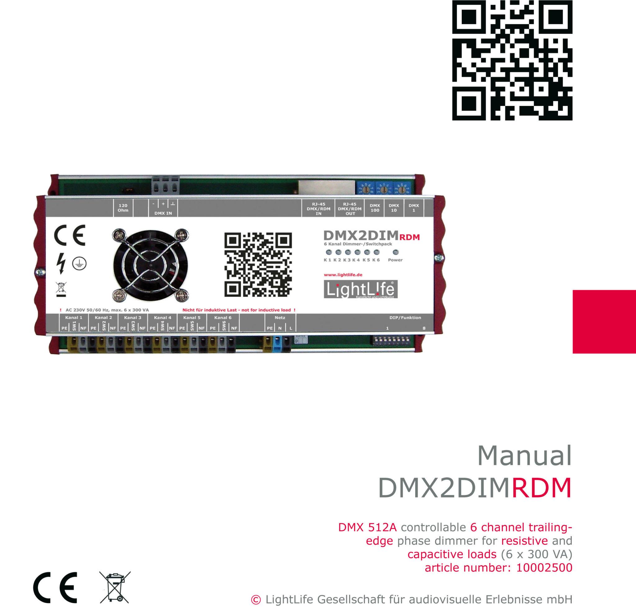 (Deutsch) Manual DMX2DIM-RDM